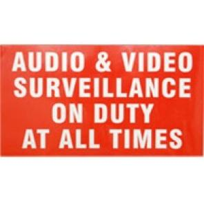 ACA-SIGN-1, Surveillance Warning Sign, Sticker 11″(W) x 6″(H)