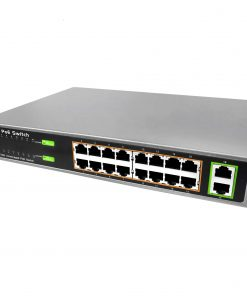 AIP-POE4816-SW1, Power Over Ethernet Switch, 16 Port Rack mount PoE Switch with 2 Gigabit Up-link Ports