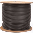 AW-RG59U-S-5-P, RG-59/U Siamese Plenum Cable, Plenum Rated 500ft. 100% Copper
