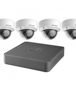 Hikvision T7104Q1TB 4-Channel 1080p DVR with 1TB HDD and 4 1080p Outdoor Dome Cameras Kit