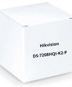 Hikvision DS-7208HQI-K2-P 8 Channel HD-TVI/Analog Digital Video Recorder, Power Over Coax, No HDD